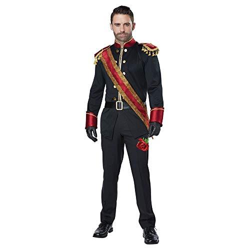 California Costumes Men's Dark Prince Adult Man Costume, black/burgundy, Large