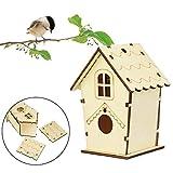 Tlwrnop Casas para Pájaros Nidos para Pájaros DIY Bird House De Madera Creative Bird Bird Bird Nido Al Aire Libre
