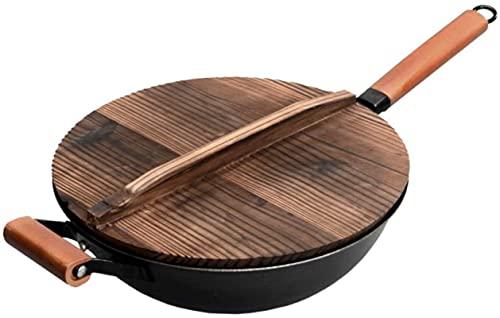 TINGFENG Wok La sartén no palanca para el hogar es adecuada para la cocina de inducción, gama de artículos de cocina de gran capacidad WOK