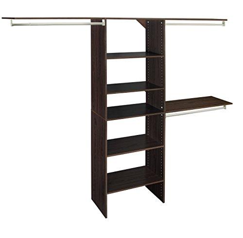 ClosetMaid SuiteSymphony Closet Organizer with Shelves, 25-Inch-Espresso