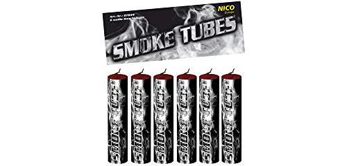 Nico 6X Smoke Tube Rauchfackeln Rauchbomben Rauchgenerator Raucherzeuger Rauchtopf (weiß)