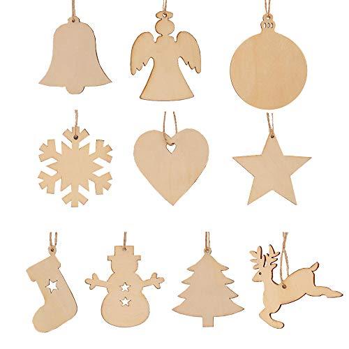 kungfu Mall - 50 Unidades de 10 Estilos de árbol de Navidad...