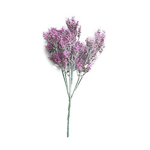 Lorjoyx 7 de la Rama/Ramo Artificial de eucalipto Las gramíneas de plástico de fábrica Verde Simulación Falso Flores Inicio la decoración del jardín