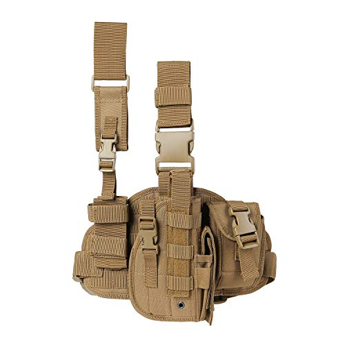 Paladins Drop Leg Holster with Magazine Pouch,Right Handed...