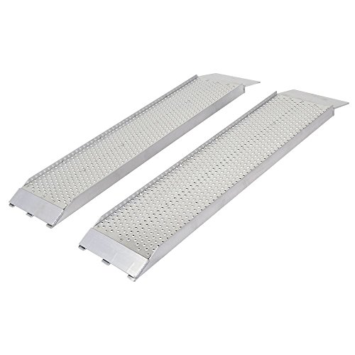 Guardian S-368-1500-P Dual Runner Shed Ramps with Punch Plate Surface - 8' Wide, 3' Long