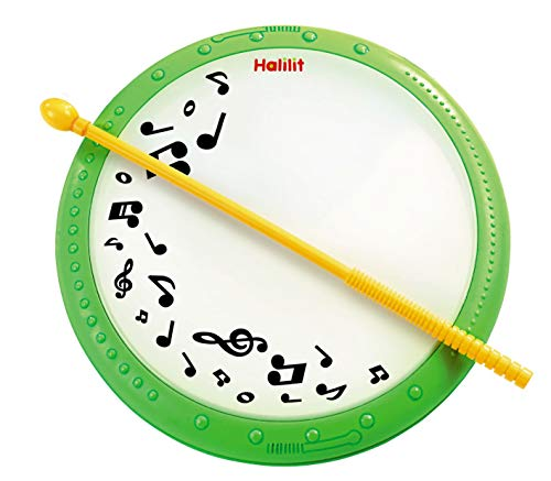 Edushape Baby Drum Toy - Kids Musical Hand Drum Set - Light Weight 7 Inch Creates Deep Professional Drum Sounds ( for Kids Age 2 and Up)