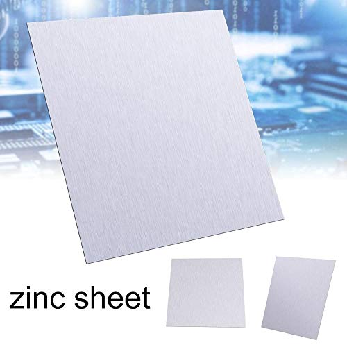 SSB-JIAODAI, 1pc High Purity Zinkblech reines Zink Zn Blatt 100x100x0.5mm-Platten-Metall-Folie for Wissenschaft/Elektronik-Waren/Elektrotechnik