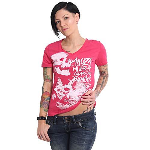 Yakuza Damen Muerte V-Neck T-Shirt