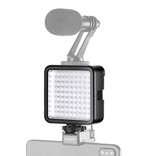Neewer Ultra Brillante Mini Luz Video 81 LED Panel de Alta Potencia Regulable Compatible con DJI Ronin-S OSMO Mobile 2 Zhiyun WEEBILL Smooth 4 Gimbal Nikon Sony DSLR Cámaras