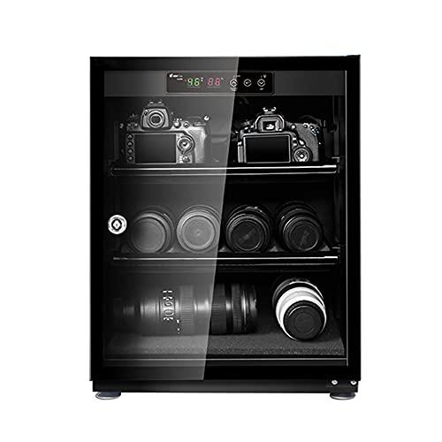 Armadio di essiccazione-armadio di deumidificazione della fotocamera, contenitore per il risparmio energetico domestico, ripiano regolabile, scatola a prova di umidità per fotocamera SLR/Black