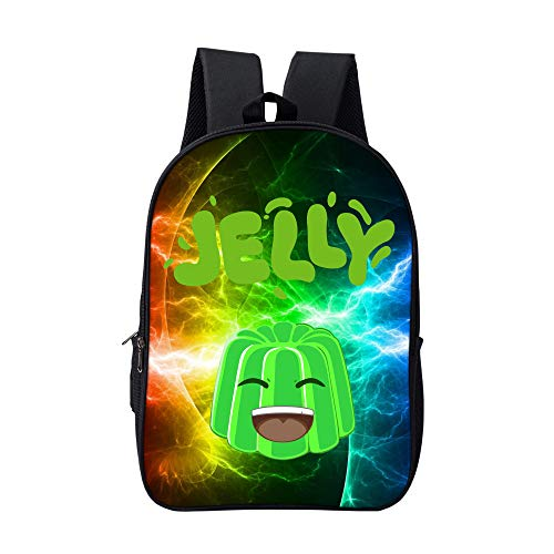 Meeting Kids Cute Schoolbag Crazy Jelly Bookbag 17 Inch Multifunctional Backpack For Teen Boys and Girls YOUTUBE-03