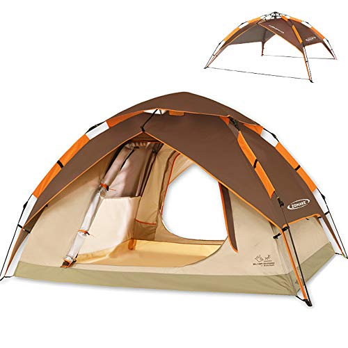ZOMAKE Instant Tents for Camping 2 3 Person - Waterproof Dome Tent with Carry Bag, Automatic Hydraulic Pop Up Tent - Easy Setup in 60s