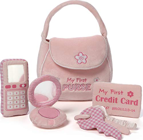 Baby GUND My First Purse Stuffed Plush Playset, 8', 5 pieces