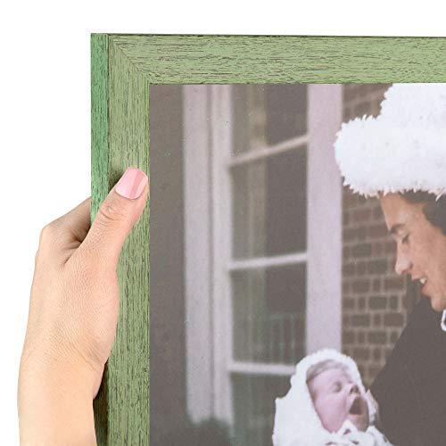 ArtToFrames 16x20 inch Jade Rustic Barnwood Wood Picture Frame, WOM0066-1343-YGRN-16x20