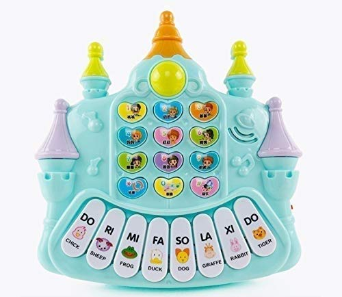Zenghh Kindermultifunktions-Tastatur-Musik mit Mikrofon Mikrofon Telefon Anfänger Mädchen-Kind-Baby-frühes Lernen Spielzeug Tastatur-Klavier 0-1-3 Jahre alt (Color : C)