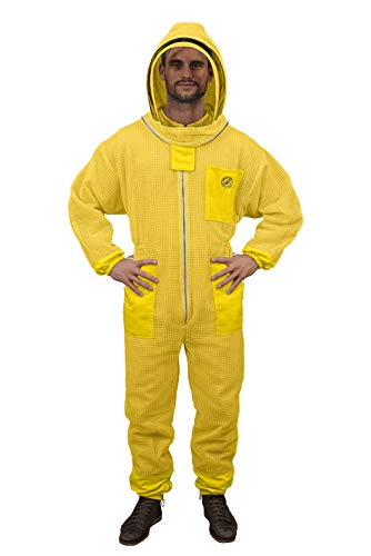Humble Bee 421 Aero Beekeeping Suit with Fencing Veil-Yellow