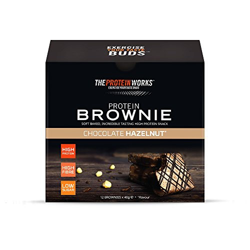THE PROTEIN WORKS Protein Brownies | High Protein, Low Sugar Snack | High Fibre | Belgian Chocolate | Box of 12