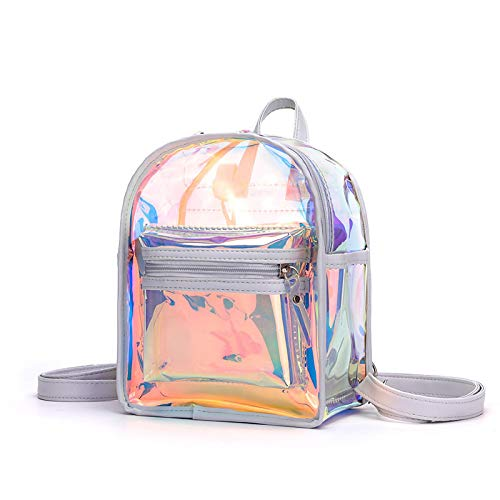 Bags for Woman Transparent Luminous Backpack Lady Cuteness Day Pack Fashion Mini Mochila Grey