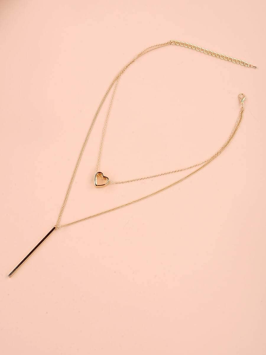 LND Gifts Necklace Pendant Bar Y Lariat Necklace (Color : Gold)