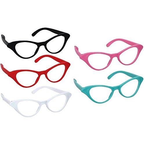 57e78ca859b Amazon.com  50 s Cat Style Party Glasses