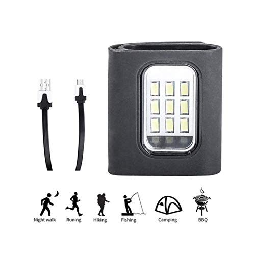 Carpa ligera con mosquetón Luz de seguridad LED + cable USB recargable Ideal for correr, caminar, niños, collares for perros, senderismo, camping, sendero o bicicleta: compacto y liviano Luz que acamp