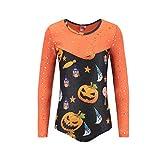 Leotards for Girls Gymnastic Kids Children Long Sleeve Halloween Pumpkin One-Piece Dance Unitards Bodysuit Outfit Orange Size 6