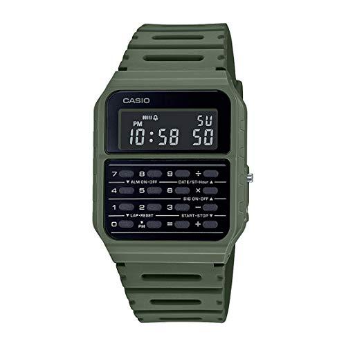 Casio CA-53WF-3B Calculator Green Digital Mens Watch Original New Classic CA-53, 43.2×34.4×8.2mm (CA-53WF-3BDF)