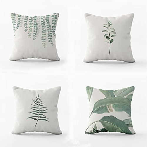 Cojines Decorativos para Sofa -Funda cojin 45 x 45 - Fundas Cojines Sofa - Cojines Sofa Originales - Fundas de cojin - Cojines para Sofa Modernos (Nature)