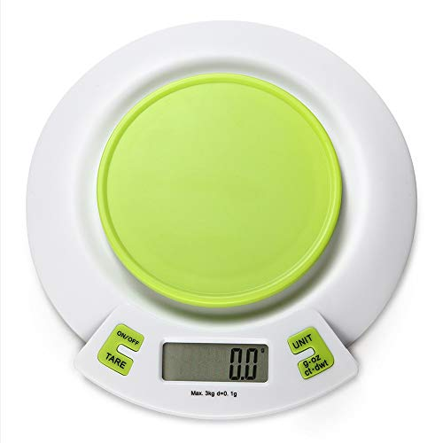 Digitale keukenweegschaal met tablet, elektronische multifunctionele levensmiddelweegschaal met LCD-display, Tara-functie, laagspannings- en overbelastingsprompt, 4 maateenheden, betrouwbare nauwkeurigheid ++