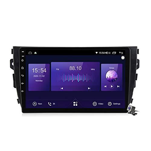 Gokiu Android 10 Autoradio 2 DIN Car Stereo Coche GPS Navegacion para Zotye T600 2014-2019 Soporte Carplay Android Auto/Multimedia FM RDS DSP/Control Volante/Hands-Free Calls,7862: 6+128gb