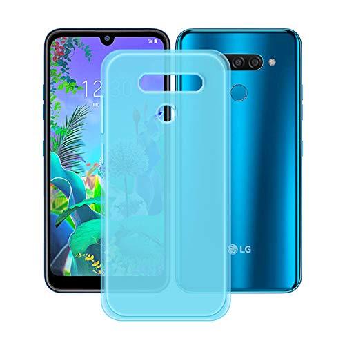 YZKJ Capa para LG K12 Max, luz de absorção de choque, mas durável, flexível, gel macio, cristal azul, capa de proteção de silicone TPU para LG K12 Max (6,2 polegadas)