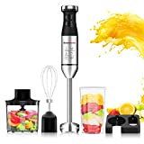 Hand Blender 5-in-1,Stainless Steel 9-Speed Immersion Blender with Wall Mounted Bracket, Food...
