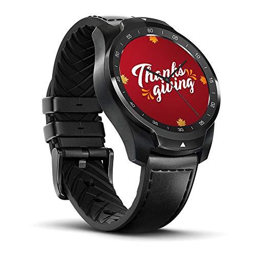 Ticwatch Pro Reloj Inteligente Smart Watch Compatible con iOS y Android (Wear 0S) Asistente de Google Tecnología de Visualización en Capas Cambia Su Estilo de Vida Desde Aquí Color Negro