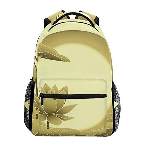 TIZORAX Oriental Mid Autumn Festival Lotus Flower Rucksack Schulranzen Segeltuch Wandern Reise Rucksack
