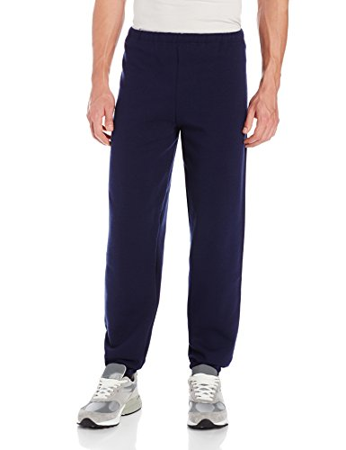 Russell Athletic Men's Dri-Power Closed Bottom Sweatpants (No Pockets), Navy, Large