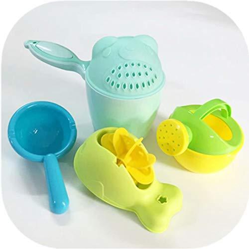 Juego de tazas de baño - Taza De Champú, Enjuagadora de baño portátil Cubeta Enjuagadora de baño sin BPA para niños pequeños que protege los ojos de los bebés