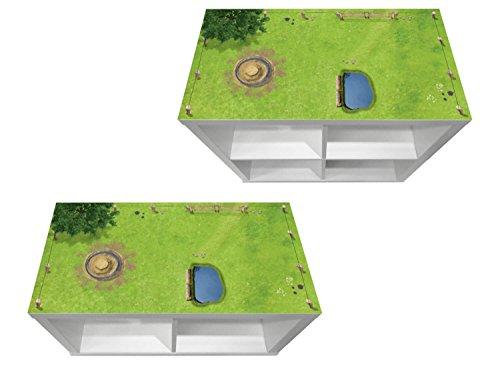 Stikkipix Pferdekoppel Möbelfolie | KSWK01 | passend für das Regal KALLAX von IKEA - (Möbel Nicht inklusive)