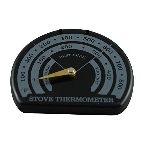 Cuffslee Magnetische thermometer voor het fornuis, voor de kachel, thermometer, magnetische houtkachel, thermometer