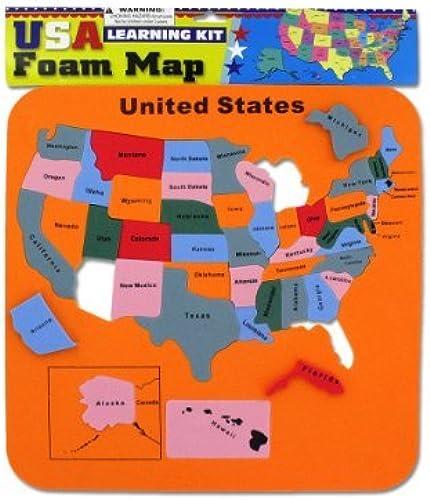 Bulk Buys USA foam map set Case Of 24 by bulk buys