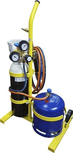 Equipo de soldadura autógena soplete gas Butano y Oxígeno STS-FGR-750