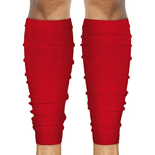 SLEEFS Calf Compression Leg Sleeves - Football Leg Sleeves for Adult Athletes - Shin Splint Support (Red)