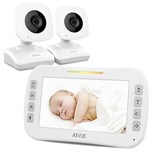 Video Baby Monitor with Two Cameras and 4.3' Screen by Axvue, Model E612, Multifunctions