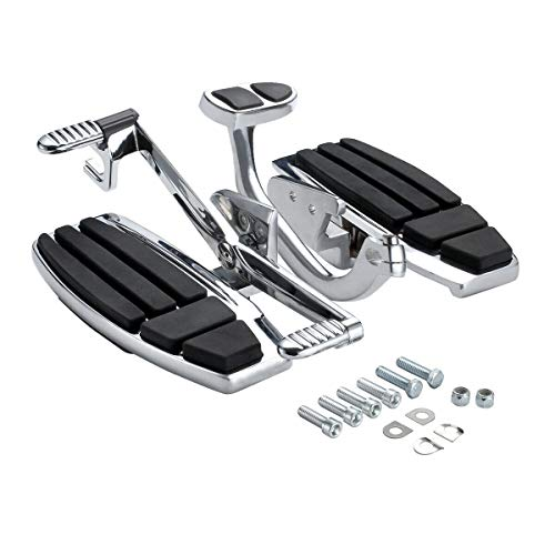 TCT-MT Floorboard Driver Foot Board Set Kit Brake Lever Fit For Honda Gold Wing GL1800 2001-2017; F6B 2013-2017; Valkyrie 2014-2015 Chrome &Black 2002 2003 2004 2005 2006 2007 2008 2009 2010 2011 2016