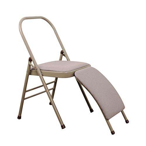 XWJJ Iyengar Silla de Yoga, Silla Plegable Multifunción Relajante y Masaje Terapia Postural Camilla de Espalda Ajustable Multifuncional Silla Flexible Refuerzo Interior Exterior,A