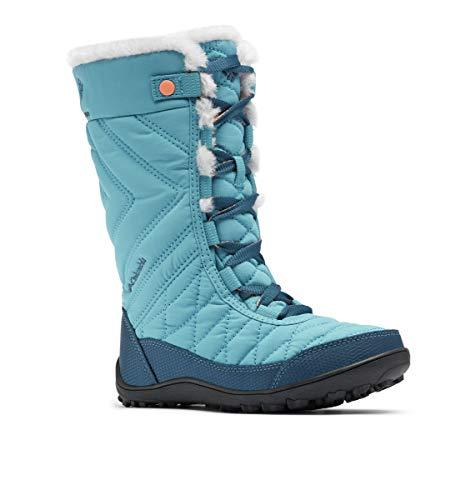 Columbia Girls Minx Mid III Waterproof Omni-Heat Hiking Boot, Shasta/Lychee, 5 Big Kid