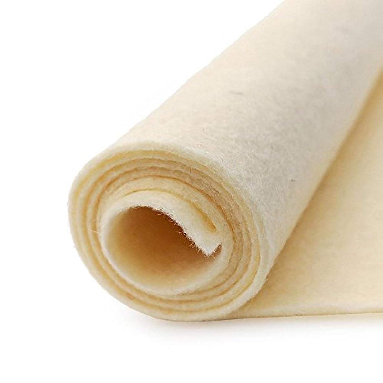 Straw Pale Yellow - Wool Felt Oversized Sheet - 35% Wool Blend - 1 12x18 inch sheet