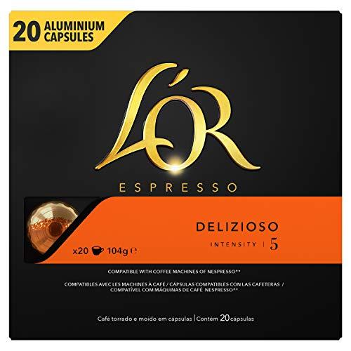 LOr Espresso Café - 200 Capsules Delizioso Intensité 5 - com