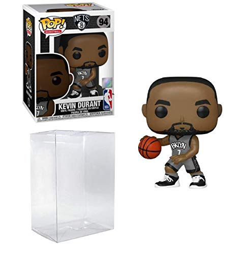 Kevin Durant Brooklyn Alternate Jersey #94 Pop Sports NBA Action Figure (Bundled with EcoTek Pop Protector to Protect Display Box)