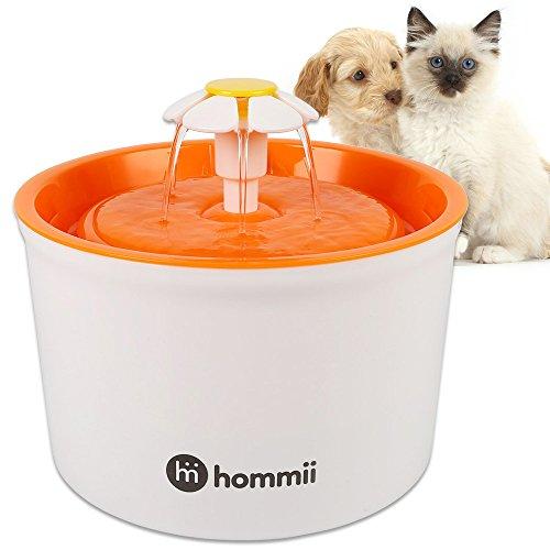 Hommii Gato/Perro Silencio Flor Fuente de Agua 1.6 L Eléctrico Automático para...