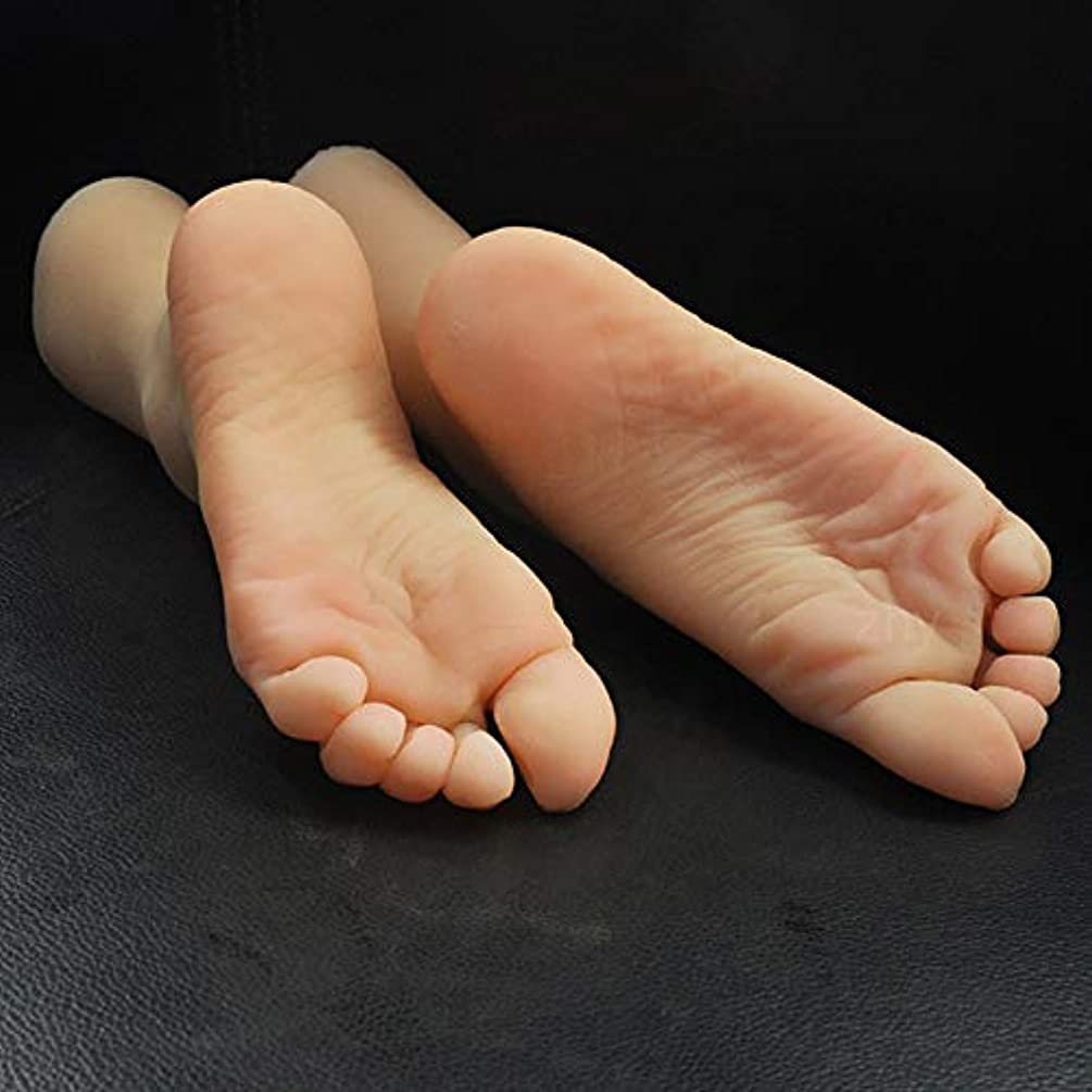 1 Pair Silicone Lifesize Female Mannequin Foot Display Jewerly Sandal Shoe Sock Display Art Sketch with Nail